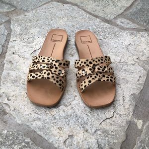 Dolce Vita Leopard CalfHair Slide Very Gently Worn